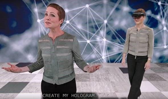 hologram van de spreker