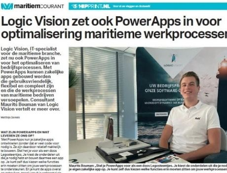 PowerApps & optimaliseren maritieme werkprocessen